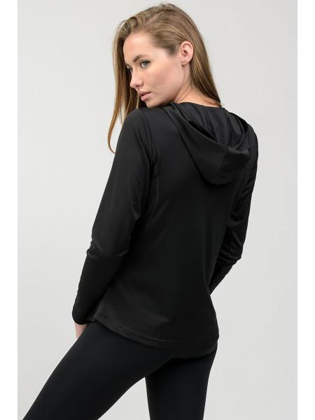 Жіноча спортивна кофта для залу Go Fitness чорна