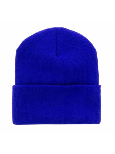 Женская шапка синяя Go Fitness